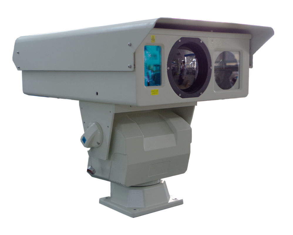 5km PTZ Infrared Thermal Imaging Camera , Fire Alarm CCTV Security Cameras